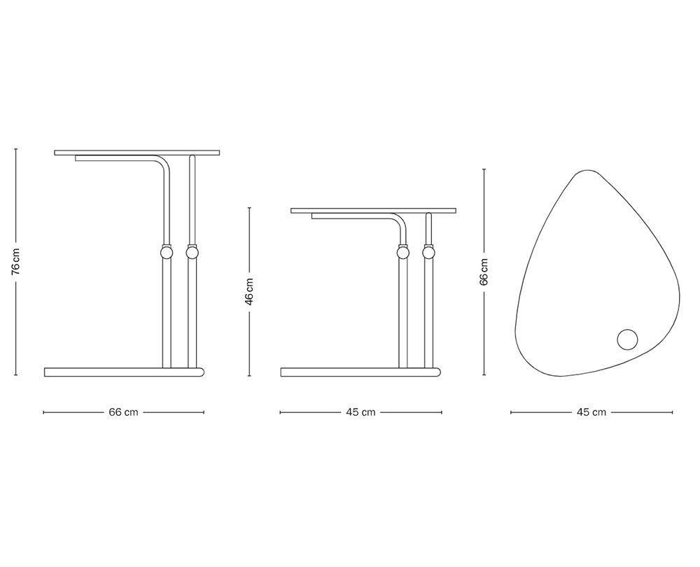 Tecta K22L bijzettafel (verstelbaar) - 7