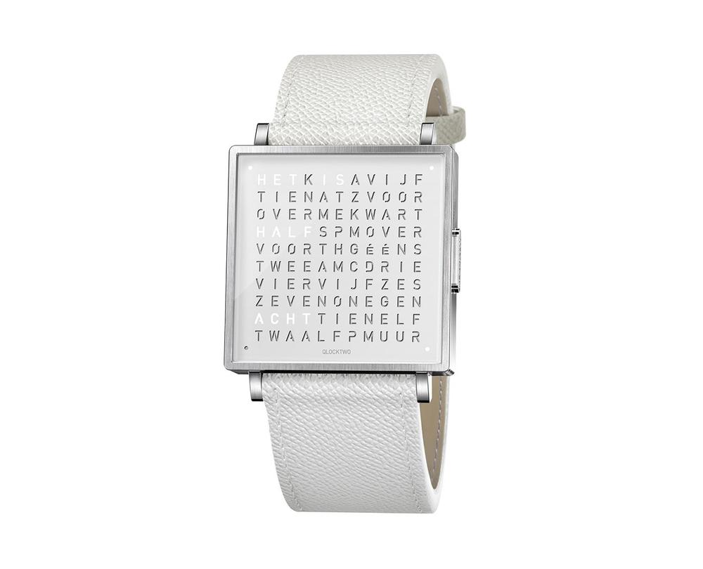 Qlocktwo Watch Pure White horloges - 1