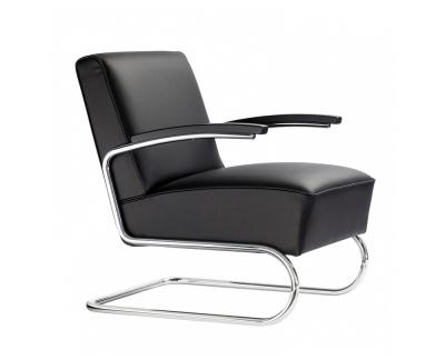 Thonet S 411 fauteuil leer
