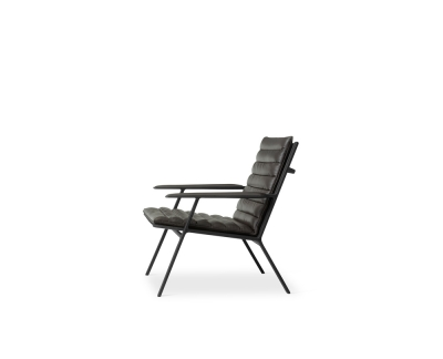 Vipp 456 shelter lounge fauteuil (ebony leather)