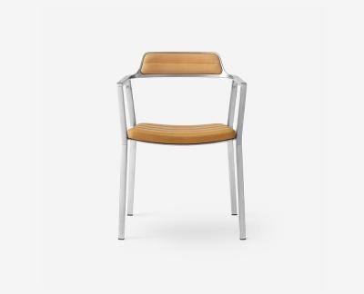 Vipp 451 eetkamerstoel (Aluminium Sand Leather)