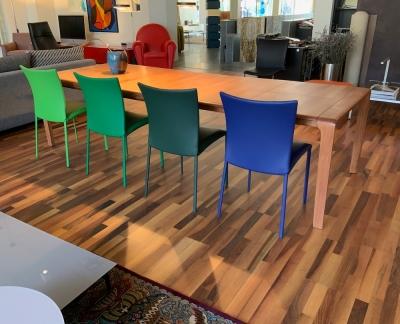 Set van 4 Draenert 2076 Nobile soft eetkamer stoel in Elmo leder