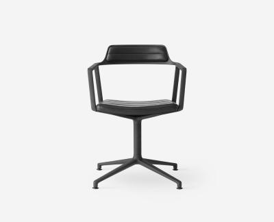 Vipp 452 bureaustoel zonder wielen (zwart)