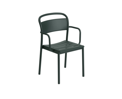 Muuto Linear Steel stoel (met armleuningen)