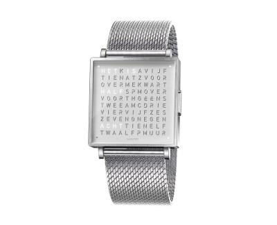 Qlocktwo Watch Fine Steel horloges