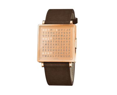 Qlocktwo Watch Copper horloges