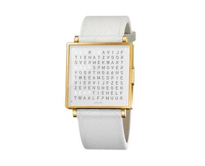 Qlocktwo Watch Gold White horloges