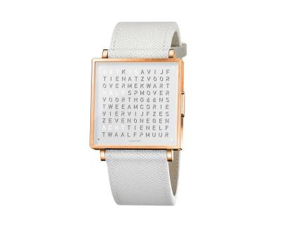 Qlocktwo Watch Rose White horloges