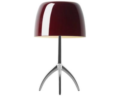 Foscarini Lumiere Piccola tafellamp met aan-/uitschakelaar en aluminium onderstel