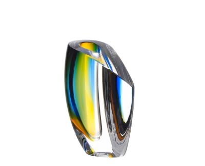 Kosta Boda Mirage Blue/amber vaas Ac 15.5cm