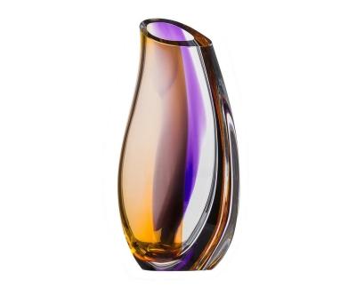 Kosta Boda Orchid Lilac/amber vaas Ac 29cm