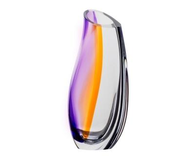 Kosta Boda Orchid Lilac/amber vaas Ac 37cm