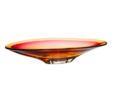 Kosta Boda Vision Pink/amber schaal Ac