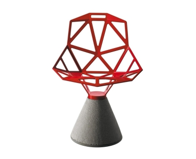 Magis Chair One draaistoel met cementpoot