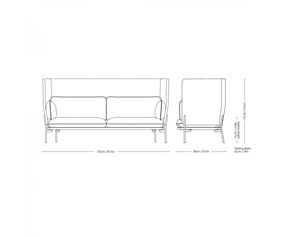 &tradition Cloud High Back LN7 - Sofa met hoge rug - 3