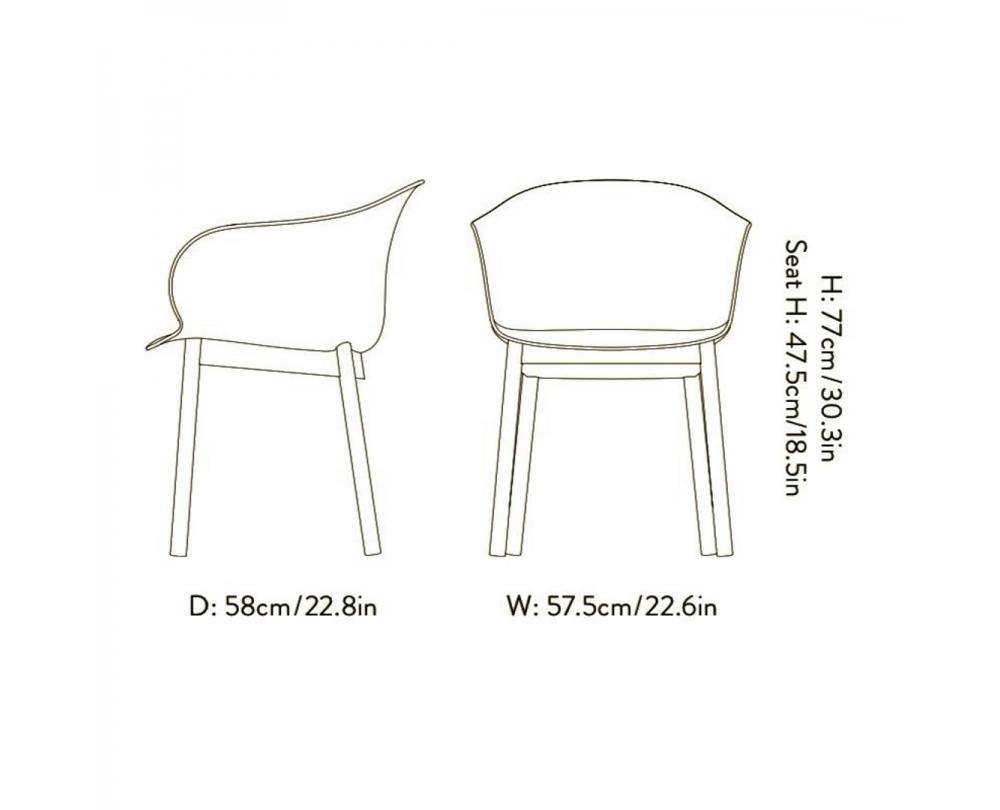 &Tradition Elefy JH31 stoel met armleuning onderstel walnoot - 4