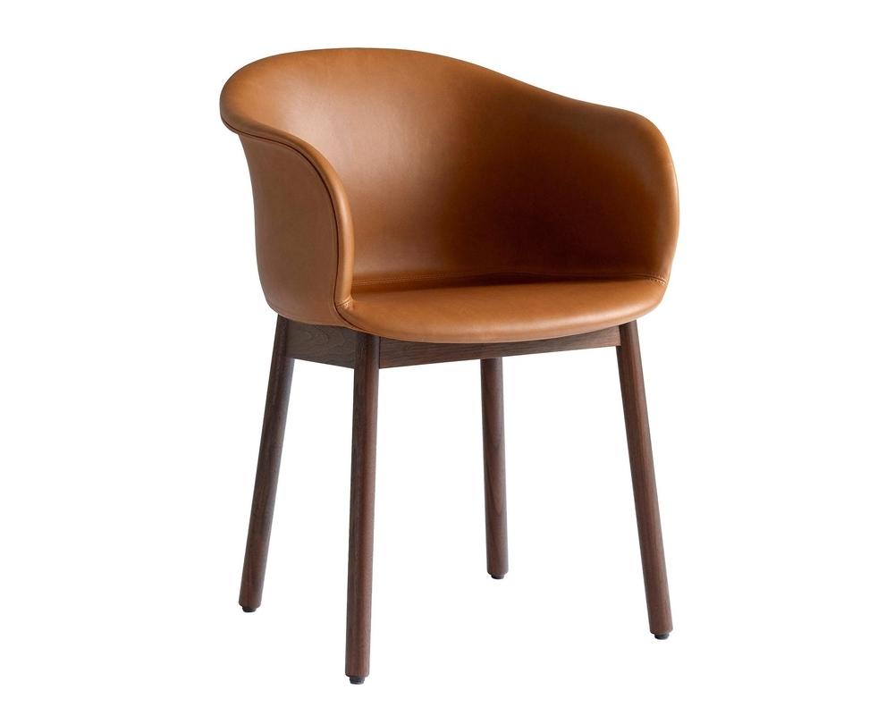 &Tradition Elefy JH31 stoel met armleuning onderstel walnoot - 1
