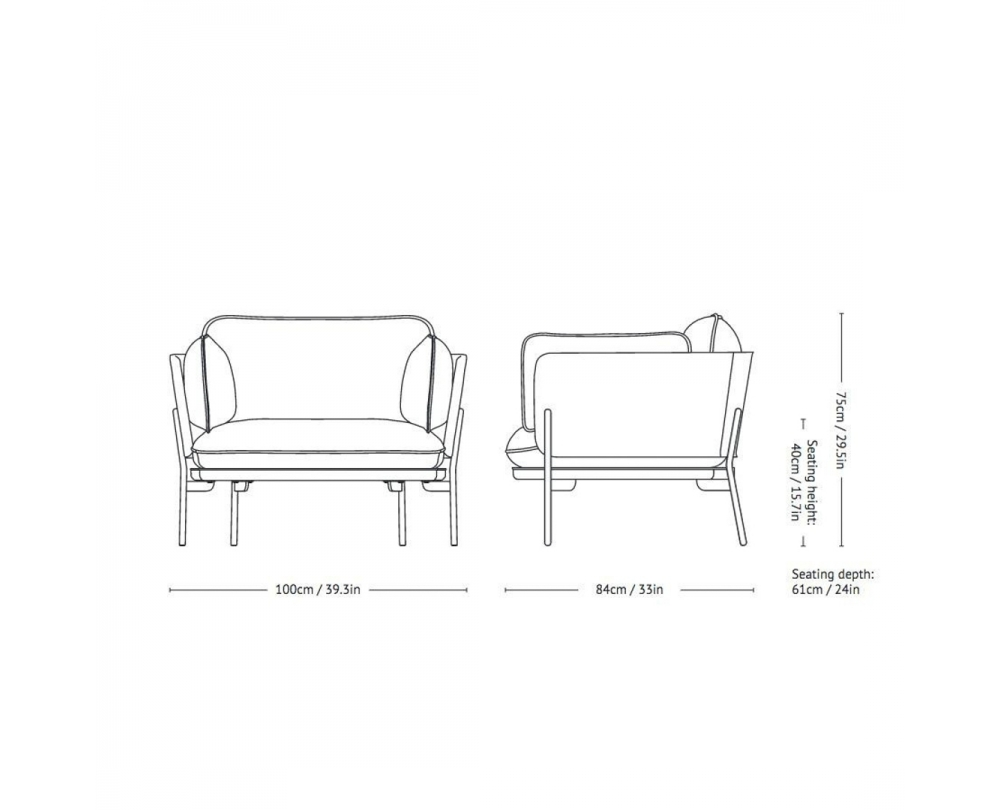 &tradition Cloud LN1 - Fauteuil - 2