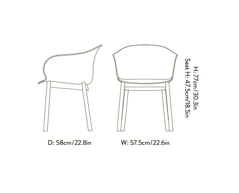 &tradition Elefy JH30 stoel met armleuning onderstel walnoot - 2