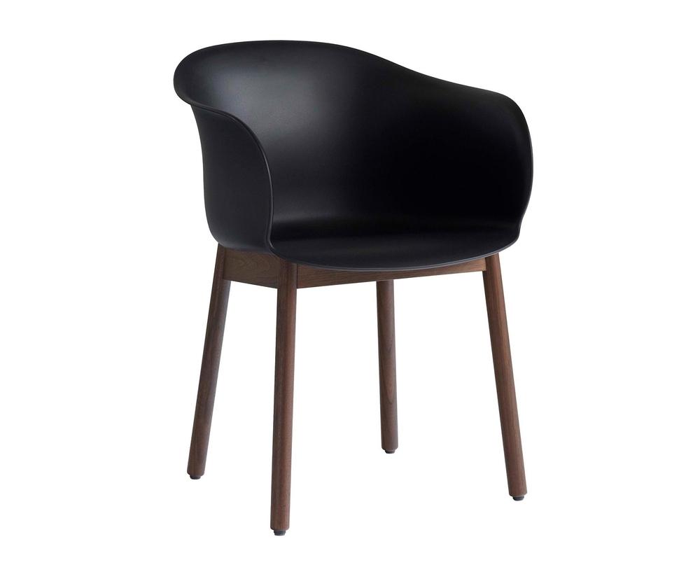 &tradition Elefy JH30 stoel met armleuning onderstel walnoot - 1