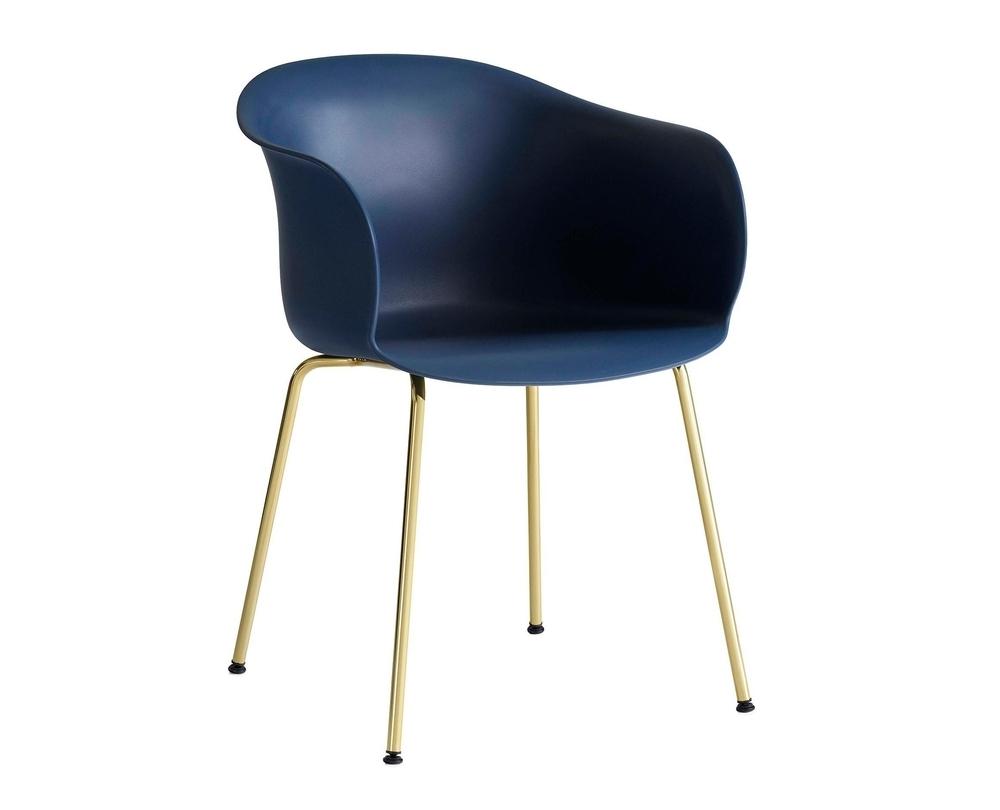 &Tradition Elefy JH28 stoel met armleuning onderstel messing - 1