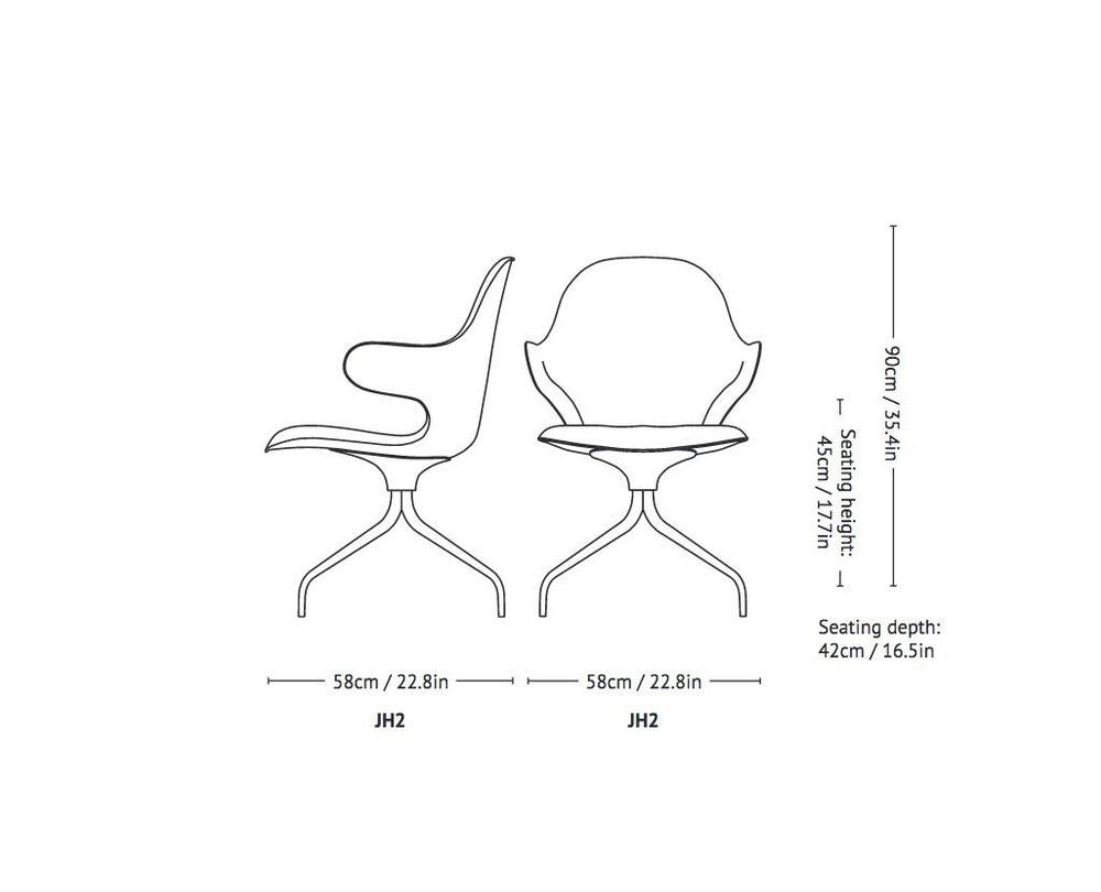 &tradition Catch Chair JH2 - Draaistoel - 3