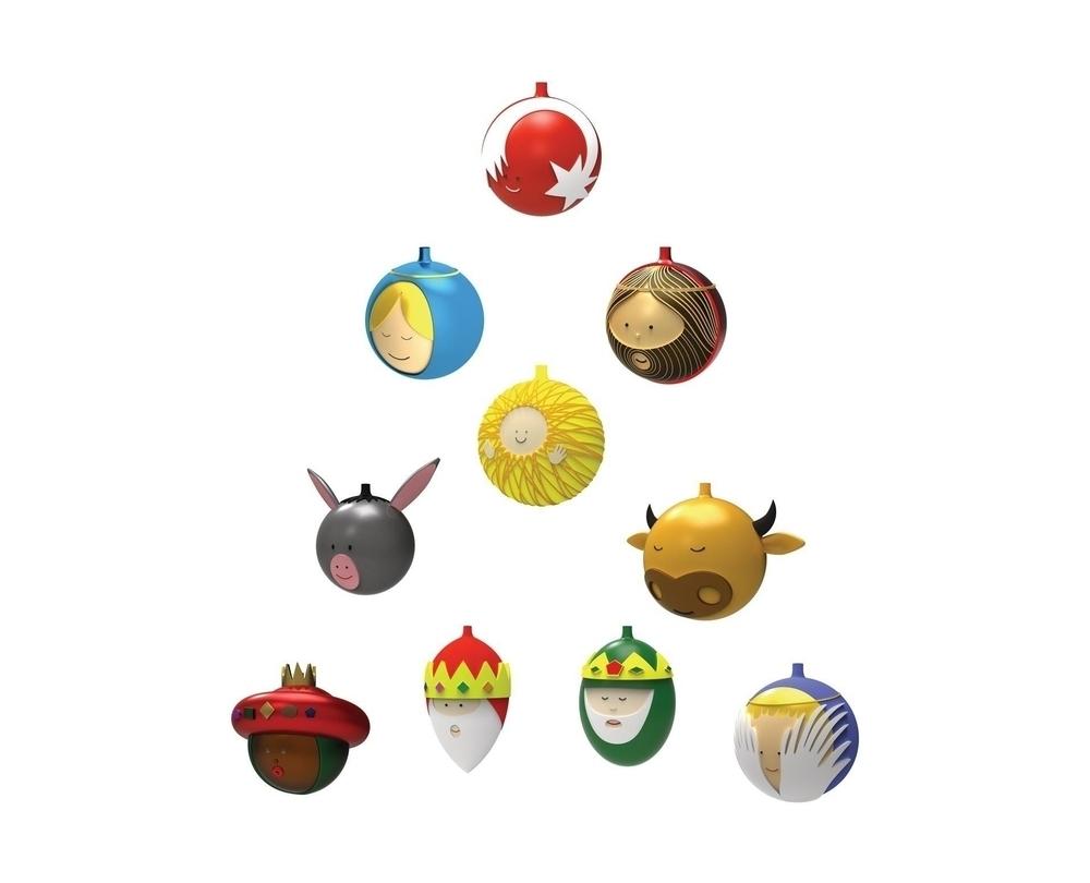 Alessi Palle Presepe kerstballen - 3