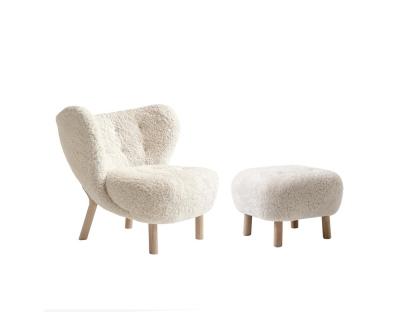 &tradition Actieset Little Petra VB1 fauteuil + Pouf ATD1 voetenbank