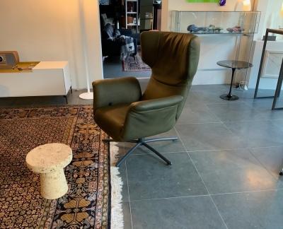 Label First class fauteuil leder Bald sprang