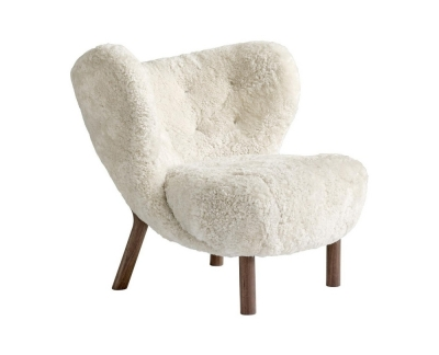 &Tradition Little Petra VB1 fauteuil onderstel walnoot