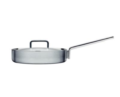 Iittala Tools Hapjespan met deksel - 26 cm - Geborsteld roestvrij staal