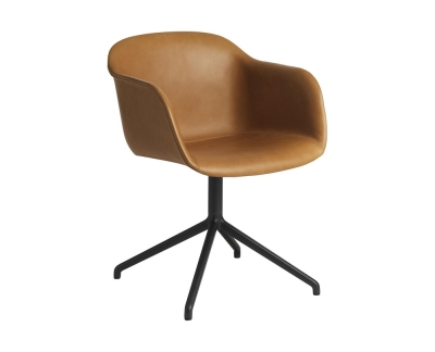 Muuto Fiber Chair - Beklede stoel draaibare